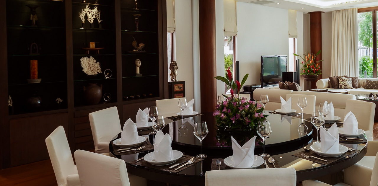 living and dining areas - villa kalyana phuket